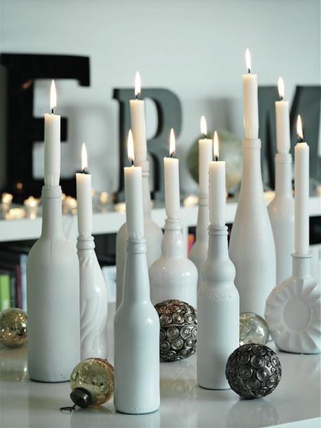 viinipullo kynttilä