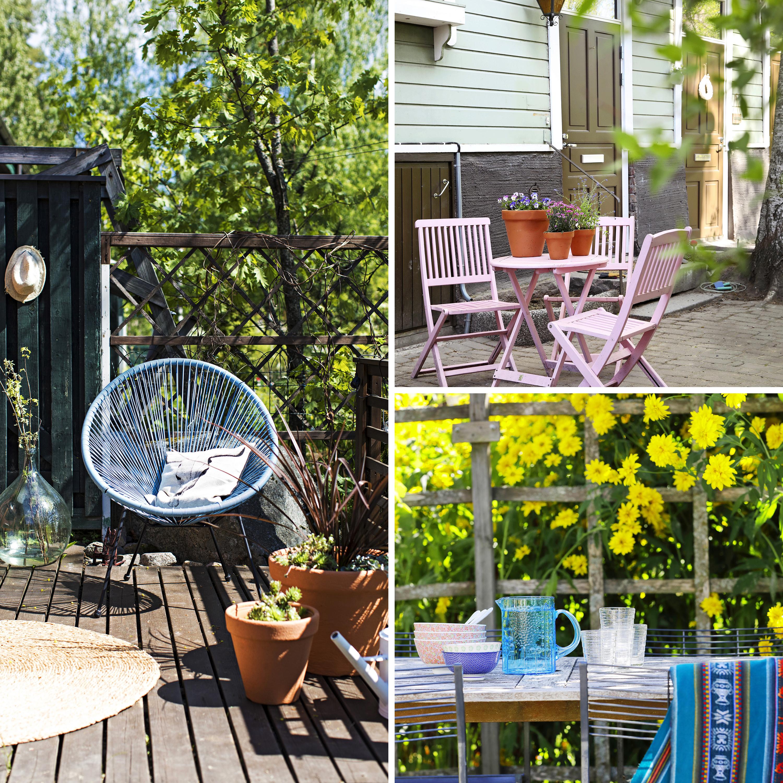 Kaunis terassi – 12 oivallusta   Meillä kotona